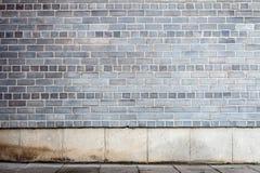 Szary ściana z cegieł obrazy stock