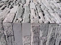 Szary ściana z cegieł i podłoga Fotografia Royalty Free