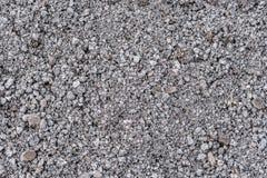 Szary żwir jako materiał budowlany dla budowa drogi i budowa drogi jako tekstura obrazy stock