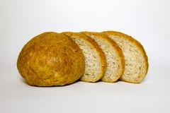 Szary żyto chleb z otręby, pokrajać, zbliżenie fotografia stock