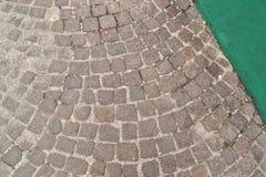 Szary bazaltowy brukowiec - tło Obrazy Stock