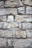 Szary brickwall Fotografia Royalty Free