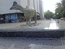 Szary dinosaur Fotografia Royalty Free