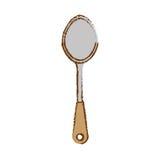 szary duży tablespoon ikony wizerunek ilustracja wektor
