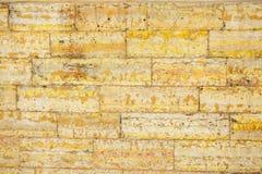 Szary i żółty żużlu bloku ściany tło, Obraz Royalty Free