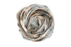 Szary i beżowy jedwabniczy szalik kojarzący wzrastał Zdjęcie Royalty Free