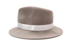 szary kapelusz Zdjęcia Royalty Free