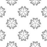 Szary kwiecisty wzór na bielu Bezszwowy tło ilustracji