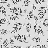 Szary liścia wzór, bezszwowy Ilustracji