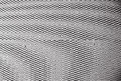 Szary metalu talerz z kropkami i śrubami Obraz Stock