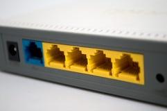 Szary modem na białym tle zdjęcia stock