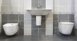 szary nowoczesne toalety Obrazy Stock