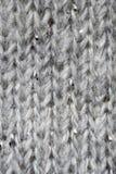Szary wełny tkaniny wzór makro- Obraz Stock