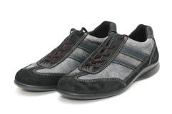 szary odizolowanych buty sportowe Obrazy Stock
