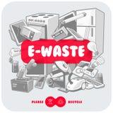 Szary odpady z rewolucjonistka znaka deską ilustracja wektor