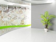 Szary pokój z rośliną ilustracja wektor