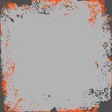 Szary pomarańczowy grunge tło Obrazy Royalty Free