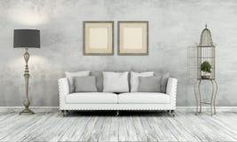 Szary retro żywy pokój Obrazy Royalty Free