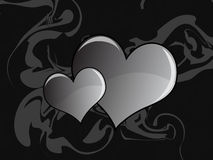 szary serce abstrakcyjne Fotografia Royalty Free