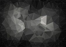 Szary skład z trójboków geometrycznymi kształtami Obraz Stock