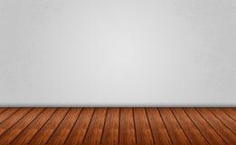 Szary tło z Drewnianą podłoga Obraz Stock