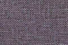 Szary tło z galonowym w kratkę wzorem, zbliżenie Tekstura tkactwo tkanina, makro- zdjęcia stock