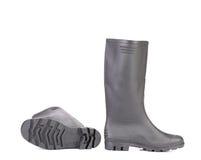 Szarzy gumowi buty Obraz Stock