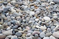 Szarzy kamienie różni rozmiary, obraz stock