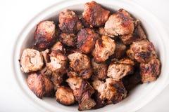 Szaszłyk szczerbi się mięso Obraz Royalty Free