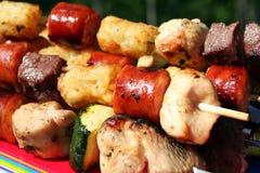 szaszłyki grillów Zdjęcia Stock