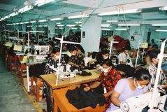 Szata przemysł w Bangladesz fotografia royalty free