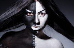 Szatanu Halloween pojęcie Obraz Royalty Free