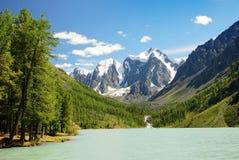 Szavlo valley in altai range Stock Photos
