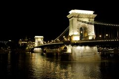 Széchenyi Chain Bridge Royalty Free Stock Photos