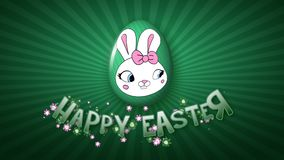 Szczęśliwa Wielkanocna animacja tytułu przyczepy 50 FPS nieskończoność ciemnozielona ilustracji