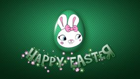 Szczęśliwe Wielkanocne animacja tytułu przyczepy 50 FPS kropki ciemnozielone ilustracja wektor
