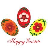 Szczęśliwi Wielkanocni jajka, wektorowy mieszkanie odizolowywali ilustrację ilustracja wektor