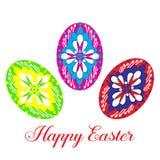 Szczęśliwi Wielkanocni jajka, wektorowy mieszkanie odizolowywali ilustrację ilustracji