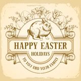 szczęśliwy Easter powitanie ilustracji