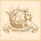 szczęśliwy Easter powitanie ilustracja wektor