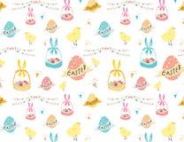 Szczęśliwy Easter wzoru tło, Śliczny Easter wzór dla dzieciaków zdjęcie royalty free