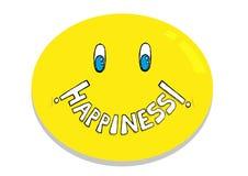 Szczęścia Emoticon pojęcie Editable klamerki sztuka ilustracji