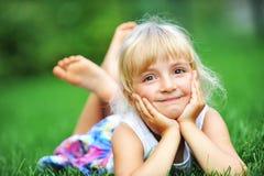 Szczęście dziewczyna Fotografia Royalty Free