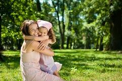 Szczęście - matka z jej dzieckiem Obrazy Royalty Free