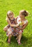 Szczęście - matka z jej dzieckiem Zdjęcia Royalty Free