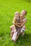 Szczęście - matka z jej dzieckiem Fotografia Royalty Free