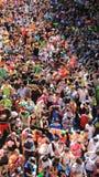Szczęście tłumu Sławny Tajlandzki nowy rok I woda festiwal zdjęcie royalty free