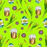Szczęście Wielkanocny bezszwowy wzór ilustracji