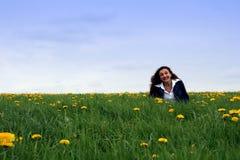 szczęśliwa łąki obrazy royalty free