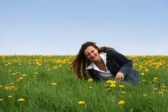 szczęśliwa łąki fotografia stock